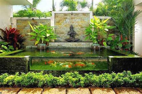 desain aquarium air tawar minimalis ide pembuatan kolam ikan hias minimalis di halaman rumah