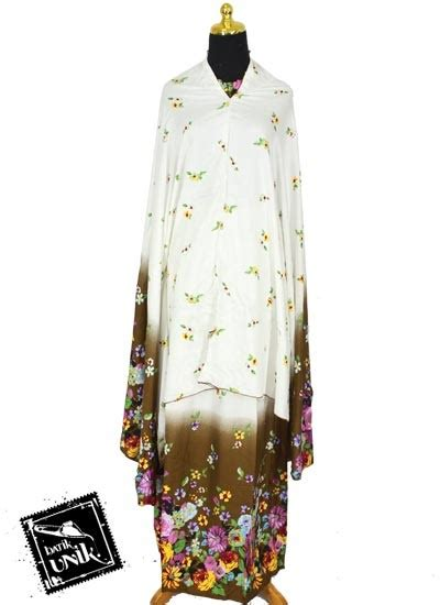 Sale Mukena Lukis Bali Bunga 1 mukena bali santhung motif lukis bunga bunga mukena