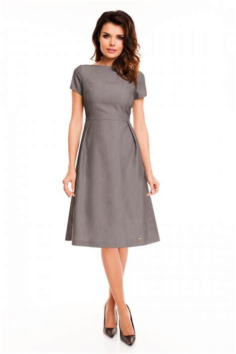 bestidos de mujer vestido elegante mujer manga corta tejido color gris