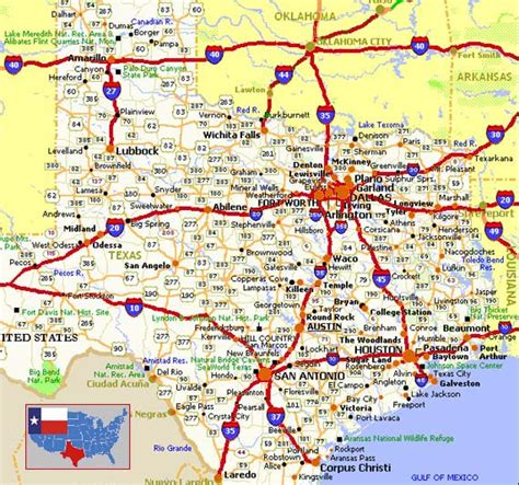 highway map of texas maps of texas texan flags maps economy geography climate resources current