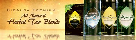 CieAura  CieAura Premium All Natural Herbal Teas for better rest and improved energy  cieaura