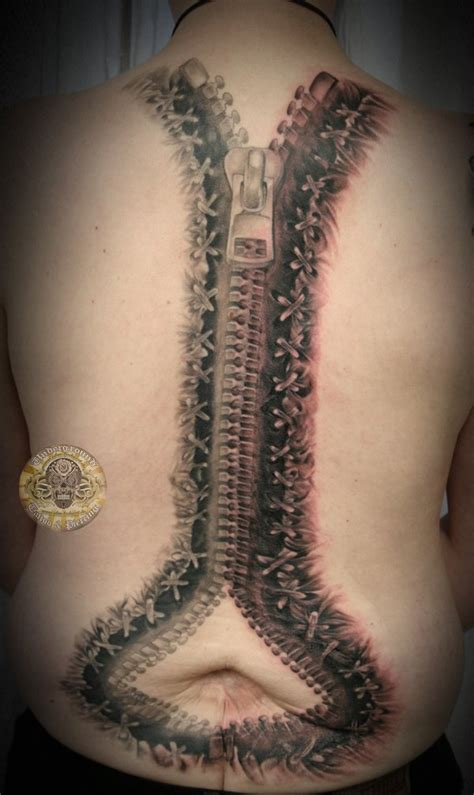 zipper tattoo pictures zipper backp 3 session tat by 2face tattoo on deviantart