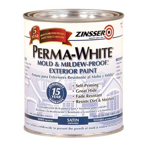 zinsser paint colors zinsser 174 perma white 174 mold mildew proof exterior paint