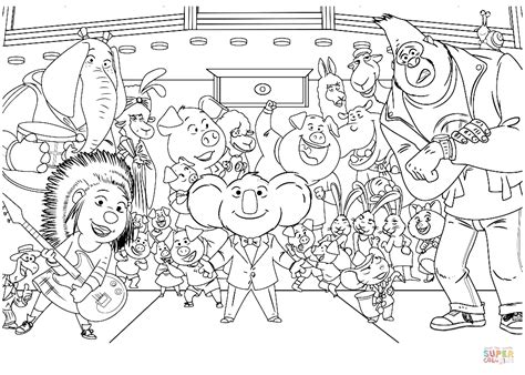 who sings in color sing characters coloring page free printable