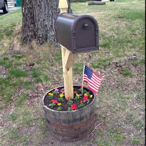 whiskey barrel mailbox planter so simple and so