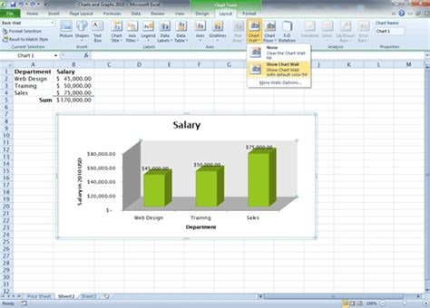 chart layout excel 2010 comma training page 127