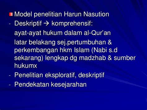 Teori Islam By Harvey Nasution metodologi studi islam materi iain tulungagung mr khutbuddin aiba