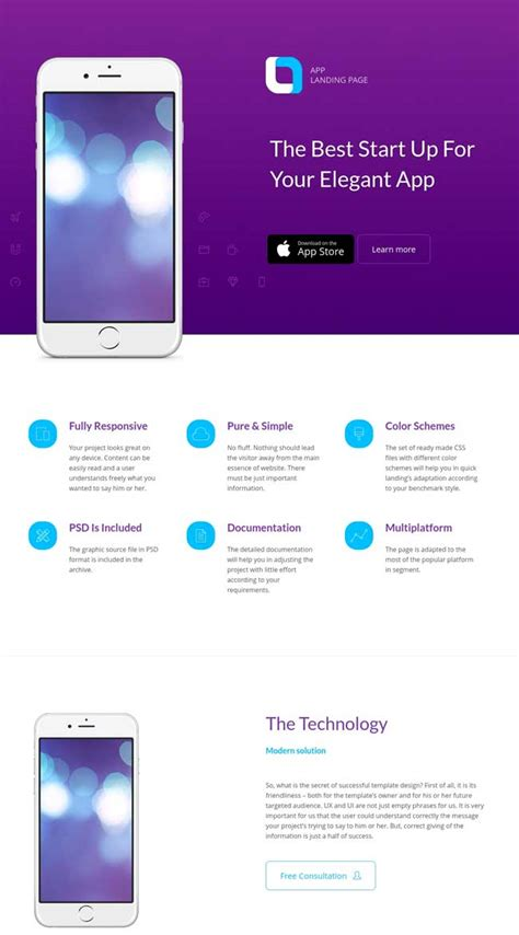 landing page templates for android app 20 best mobile app landing page templates 2016
