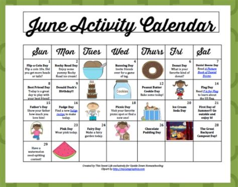 theme for education month 2013 june activity calendar