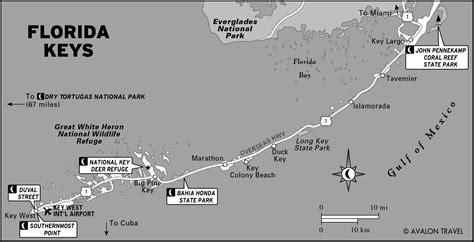 printable map key across the florida keys moon travel guides