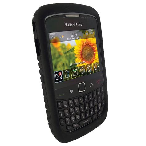 Casing Hp Bb Curve 9300 black tyre skin for blackberry curve 8520 9300 3g