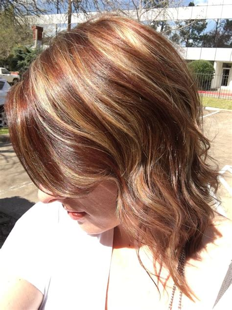 hairstyles auburn highlights quot burnt sienna quot auburn and gold throughout with a touch of