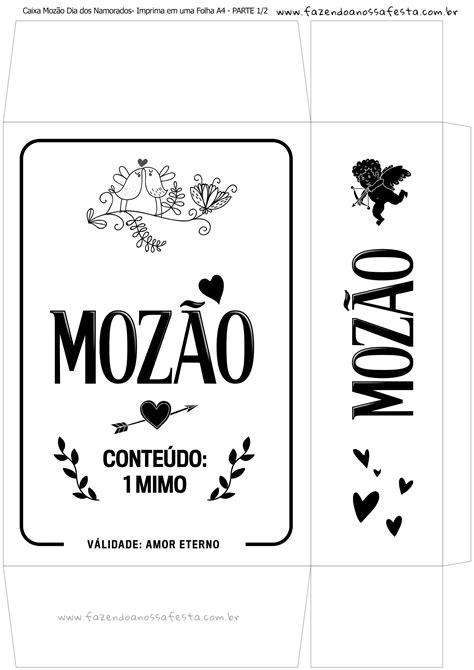 Caixa Mozão Presente Dia dos Namorados - Parte 1 - Branco