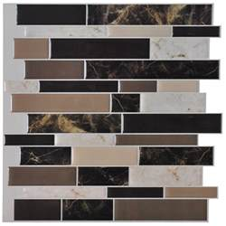 Stick On Kitchen Backsplash Self Adhesive Backsplash Tiles For Kitchen Peel N Stick Tile 9 5 Sq Ft