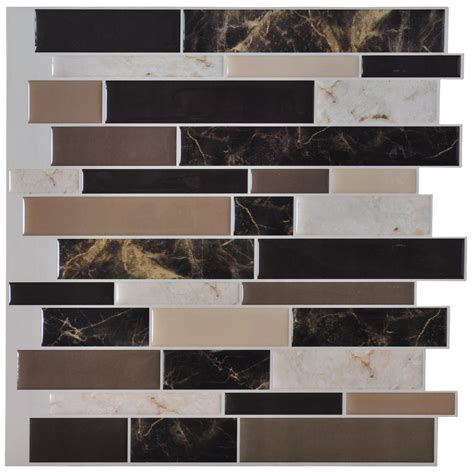 Stick On Backsplash Tiles For Kitchen Self Adhesive Backsplash Tiles For Kitchen Peel N Stick Tile 9 5 Sq Ft
