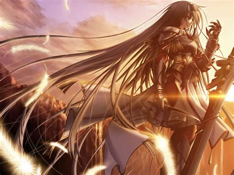 Wallpaper Anime Girl Warrior | 50 awesome anime characters wallpapers noupe