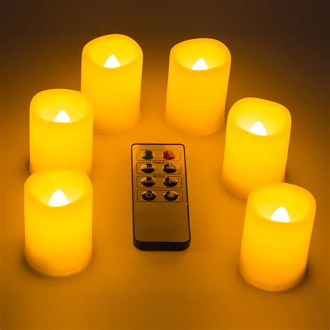 led tea lights battery life 6x led flameless flickering tea light