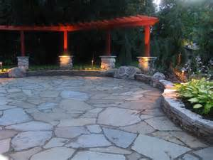 Building a flagstone patio for outdoor dining been told several