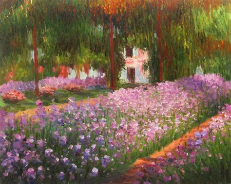 design flower garden online art oil painting picture colorful flower fairy garden with