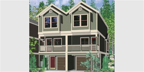 narrow row house quadplex plans narrow lot house plans row house plans f 556
