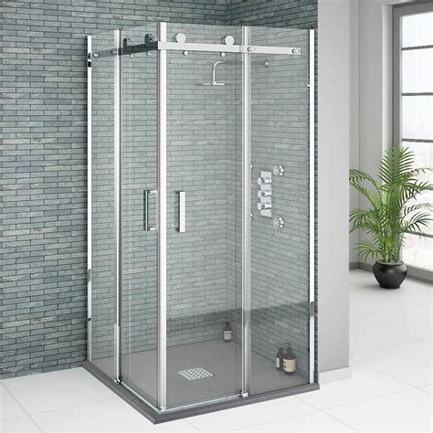 Orion Square 900 X 900mm Frameless Corner Entry Shower Corner Glass Shower Doors Frameless