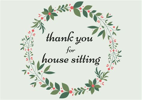 house sitting free printable cards house sitting thank you notes