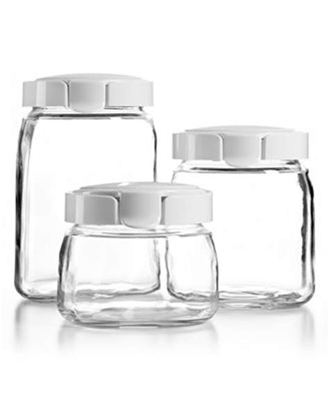 martha stewart kitchen canisters martha stewart collection glass canisters set of 3 kitchen gadgets kitchen macy s