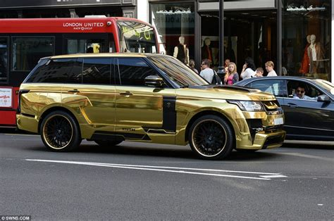 black and gold range rover owned supercars fill knightsbridge streets as wealthy