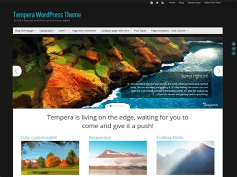 wordpress nirvana tutorial tempera is live and waiting for you cryout creations