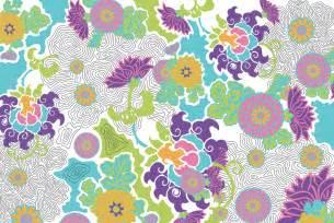 Textile Design Stylized Floral Textile Design Detail Jacqueline Unanue