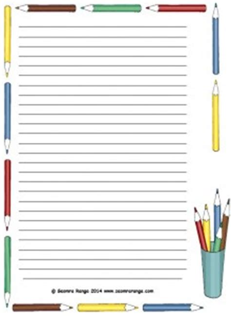 printable lined paper with book border lined pages seomra ranga