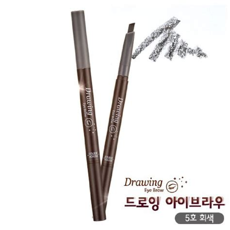 Etude House Drawing Eyebrow Upsize No 4 Ori etude house drawing eye brow 2 grey brown eyebrow makeup