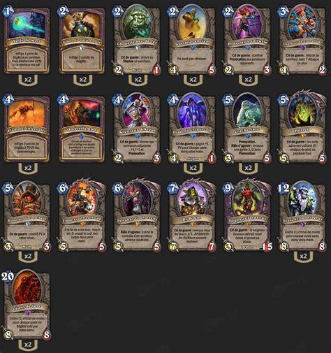 hearstone warlock deck deck d 233 moniste handlock tgt hearthstone heroes of