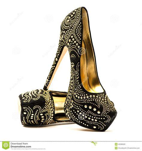 high heels shoes with inner platform an rhinestones stock