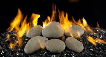burbank fireplace bbq gas logs stones river rock