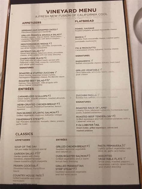 royal caribbean menus cruise with gambee - Coastal Kitchen Menu