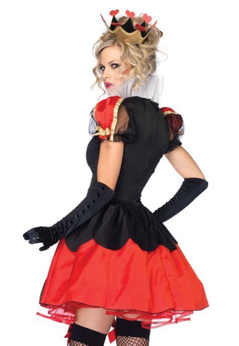 dazzling dark queen  hearts costume sexy alice