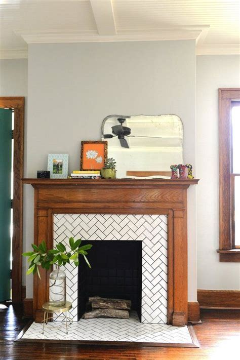 Herringbone Fireplace by Fireplaces Tile And Herringbone On