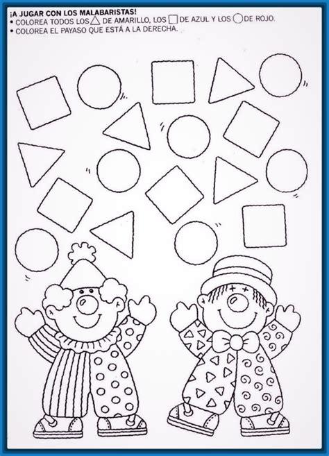 imagenes para colorear con figuras geometricas figuras infantiles de ni 241 os para imprimir archivos