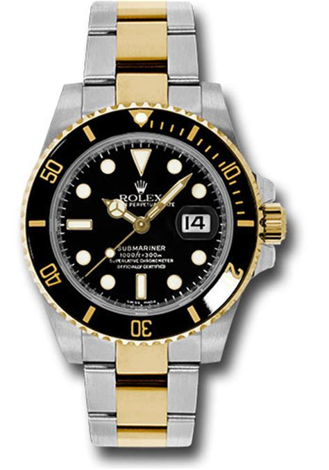 Rolex Classical Combi Black Gold rolex submariner steel and gold watches from swissluxury