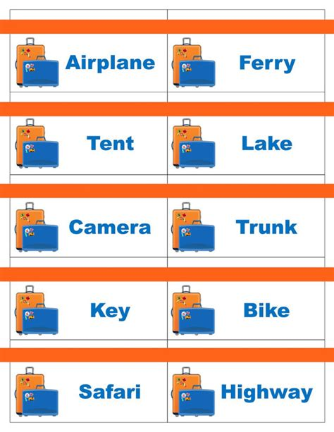 make your own pictionary cards printable travel road trip cards for pictionary or