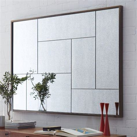 mirror wall panels multi panel foxed mirror west elm
