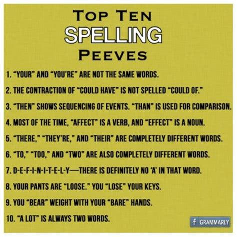 Spelling Is I Really by Top Ten Spelling Peeves I Value Correct Spelling And