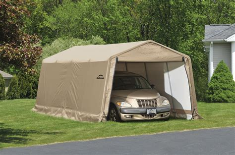 Cheap Portable Garages And Shelters by Shelterlogic Portable Car Garage Shelters