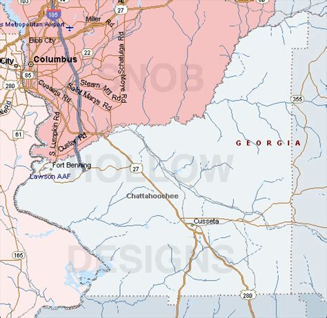 chattahoochee map chattahoochee county color map