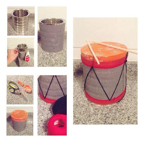 como hacer un tambor tambor hecho con tarro de leche y globo hecho a mano