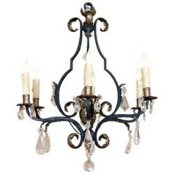 Iron And Chandelier Antique Wrought Iron And Chandelier At 1stdibs