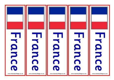 printable bookmarks activity village france bookmarks