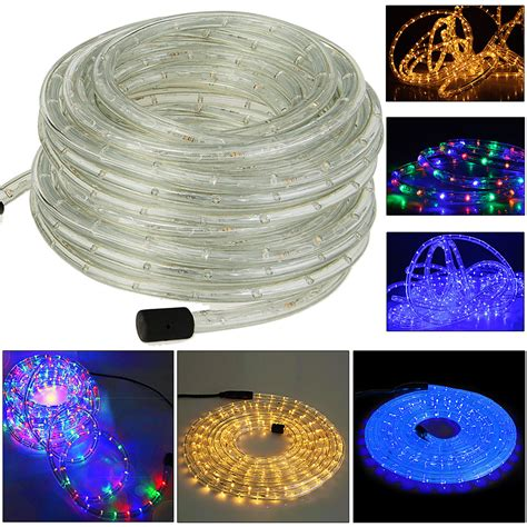 led rope light white blue fairy string outdoor lighting 5m