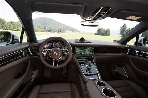 black porsche panamera interior 2017 porsche panamera first drive review motor trend